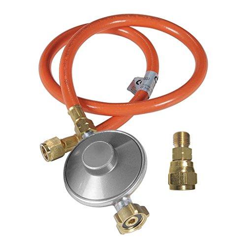 Outdoorchef Grill Gasdruckregler 50mbar- Druckminderer für einfache Selbstmontage - Gasschlauch + Druckregler + Adapter für Gasgrill