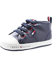 Tommy Hilfiger T0B4-30009-0272 Blue/White Eco Leather Baby Soft Soles