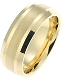 CORE by Schumann Design Herren-Ring Wolframcarbid gold ohne Stein (CORE Basic Collection) TW012.03-50