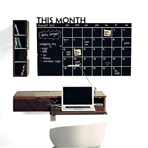 105fceefeb017 FLORYDAY Lavagna Calendario Adesivo da Parete Rimovibile Muro Planner  mensile Lavagna Adesiva Adesivo 60x90cm
