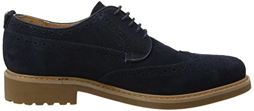 Peter Werth Shoes Olman Suede, Brogues Homme Bleu Marine