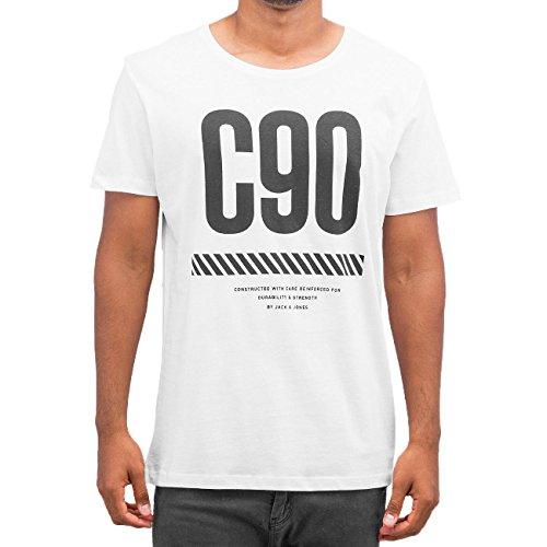 Jack & Jones Herren Oberteile / T-Shirt jcoTwo Weiß