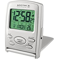 Acctim 71707 Vista MSF Radio Controlled Multi function LCD Travel Alarm Clock