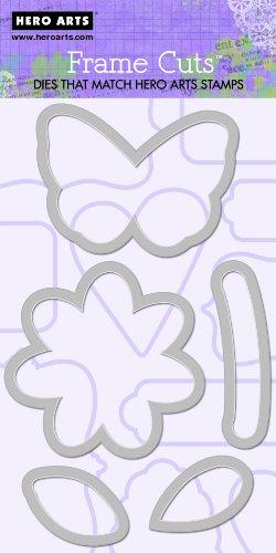 Hero Arts Blume und Schmetterling-Set Rahmen Schnitte -