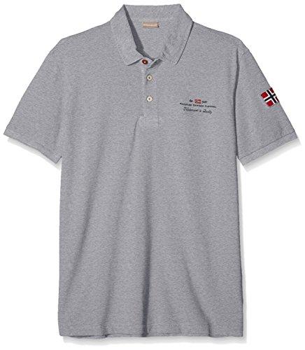 Napapijri Herren Poloshirt ELBAS New Grau (Med Grey Mel 160)
