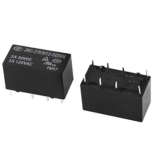 sourcingmapr-dc-12v-bobina-8-nero-perni-mini-dpdt-elettrici-pcb-rele-di-potenza-2-pezzi