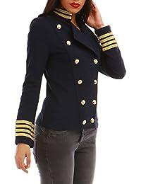 La Modeuse Veste style officier à manches longues