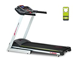 "Smooth Fitness 4.35e Laufband - 1,75 PS Motor, 42x120cm Lauffläche, 5"" LCD Display, 16 Programme"