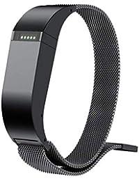 Scpink Correa de Repuesto Fitbit Flex, Banda de Reloj Inteligente de Acero Inoxidable con Lazo
