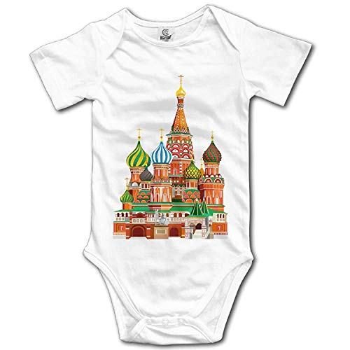 Climbing Clothes Set Russian Architecture Bodysuits Romper Short Sleeved Light Onesies for 0-24 Months ()