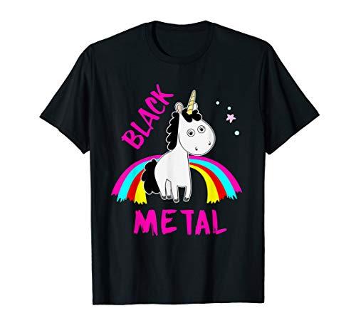 Evil Black Metal Shirt mit gefährlichem Einhorn
