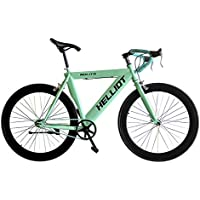Helliot Bikes Fixie Nolita 55 Bicicleta Urbana, Hombre, Azul/Verde, Talla Única