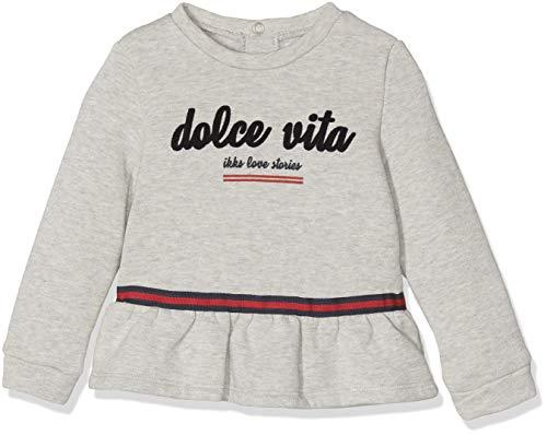 IKKS Junior Sweat Dolce Vita Shirt, (Gris Chiné Moyen 24), 18-24 Mois (Taille Fabricant:18M) Bébé Fille