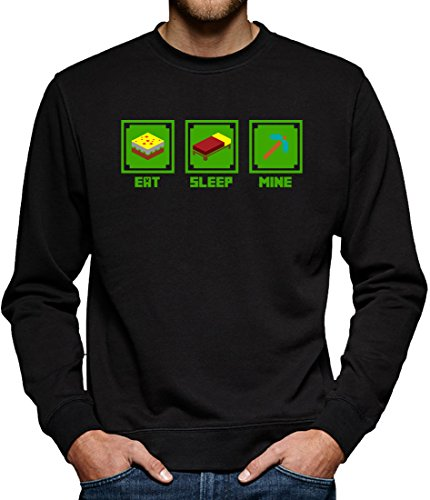 TLM Eat Sleep Mine Sweatshirt Pullover Herren XXXL Schwarz