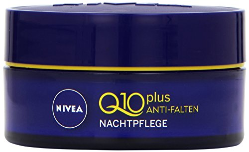 NIVEA Anti-Falten Nachtpflege, 50 ml Tiegel, Q10 plus (Falten-nachtpflege)