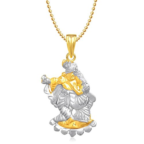 Meenaz Shri Krishna God Pendant Gold Plated Cz With Chain In American Diamond For Man & Women,Girls GP250  available at amazon for Rs.399