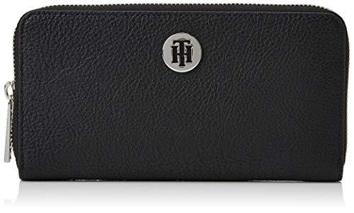 Tommy Hilfiger Damen Th Core Lrg Za Wallet Geldbörse, Schwarz (Black), 1x1x1 cm
