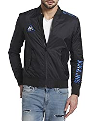 Jack & Jones Mens Nylon Jacket (12117884_Black_XX-Large)