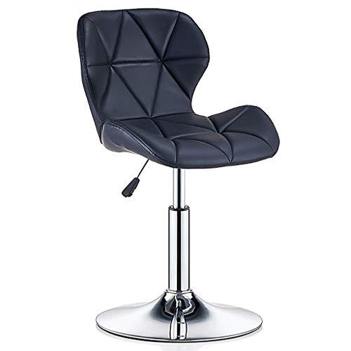 XXY Drehstuhl barstuhl Bürostuhl 360 ° drehbarer Barhocker Galvanikrahmen Drehstuhl Schönheitsrollenhocker nach Hause Verstellbarer Stuhl (Color : Black, Size : 47 * 40cm) -