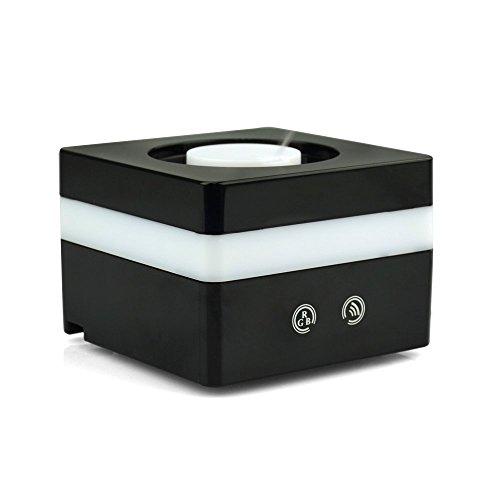 BESTEK Diffusore di Aromi ad Ultra Mini/ Aromaterapia innovativa e Diffusore Elegante/ Umidificatore Con 7 colori che Cambiano Variabile, Nebbia Monte Regolabile e AC Spina & Porta USB BTAM502BK