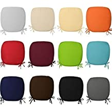 REMOVABLE CHAIR SEAT PADS WITH TIES CHAIRS OFFICE HOME GARDEN FOAM CUSHIONS (pack of 2,4 ,6 & 8) ,In 12 colors... (pack of 4, Purple)