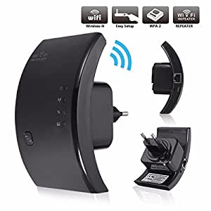 MECO Wireless 300Mbps Range Extender Segnale Amplificatore Signal Enhancement Ripetitore WIFI Nero