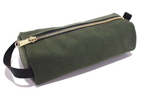 rough-enough-highly-heavy-canvas-military-classic-small-tool-pencil-case-pouch-tela-raw-green-91-x-4
