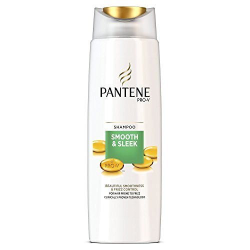Pantene Smooth and Sleek Shampoo For Hair Prone To Frizz, 400 ml - Pack of 6