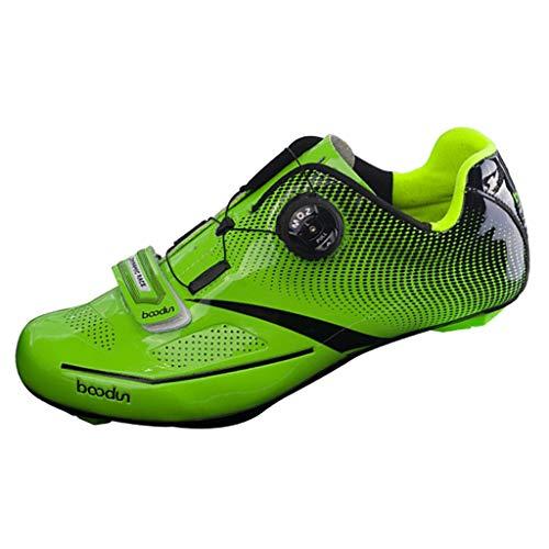 CUTICATE Triathlon Rennradschuh Herren Radsport Reitschuhe Turnschuhe Für Die Spin Klasse - Gelb 40