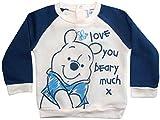 Winnie the Pooh Pullover Disney Jungen (Creme-Blau, 86-92)