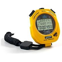 Finis 3X300M Stopwatch, Cronometro digitale multifunzione, Giallo
