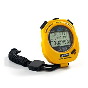 FINIS Stopwatch 3x 300m yellow, one size
