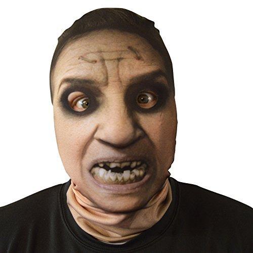 gruselig Halloween Gesichtsmaske Besessen alte Frau Exorzist Kostüm -