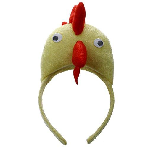 Huhn Hahn Kopfband - TOOGOO(R)3D Huhn Hahn Kopfband Tier Bauernhof Erwachsene Kinder Maske Kostuem Maskenball