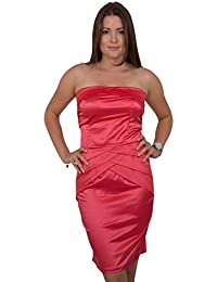 GIOVANI & RICCHI Damen Kleid Spitzenkleid One Size Einheits Groesse Mix Coral (Color: Coral, Groesse: S)