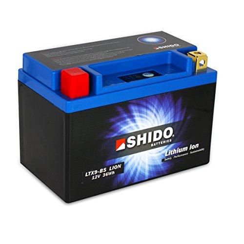 Motorrad Batterie Shido Lithium LTX9-BS/YTX9-BS, 12V/8AH (Maße: 150x87x105)