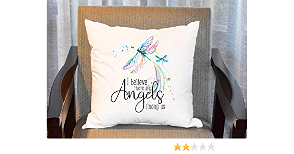 14 X 14 Inch Throw Pillow Cases Cushion Covers Dragonfly Angels Among Us Pillow Cover Angel Pillow Cover Dragonfly Pillow Amazon Co Uk Kitchen Home