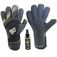 gloveglu Goalkeeper Gloves spray for extra grip (6, black)