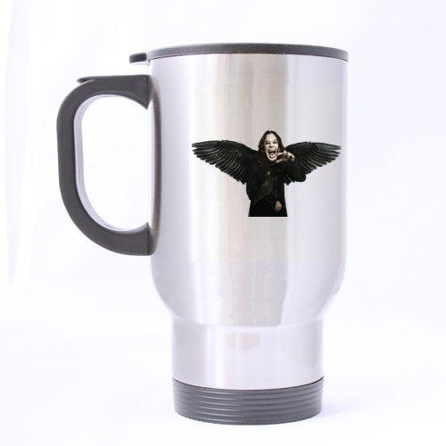 Eagle Ozzy Osbourne Cool étanche personnalisé Mug de voyage-Bouteille de sport-Argent-Tasses à café Bureau tasse 14 Cl Home Deux côtés imprimés