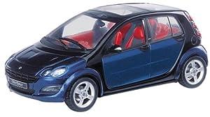 Schuco Dickie 04691-Smart Forfour, Azul de Negro 1: 43
