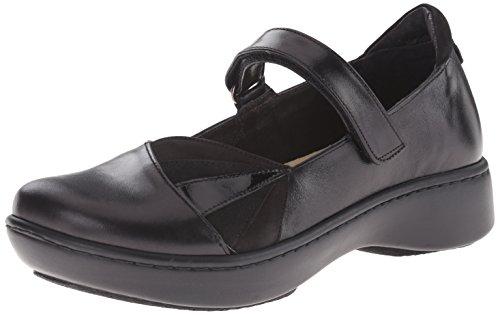Naot NAOTAdriatic - Adria Damen, Schwarz (Black Madras Leather/Black Velvet Nubuck/Black Suede/Black Patent Leather), 40 EU Black Madras