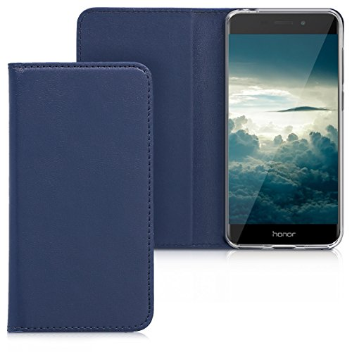 kwmobile Huawei Honor 6C Pro Hülle - Kunstleder Handy Schutzhülle - Flip Cover Case für Huawei Honor 6C Pro