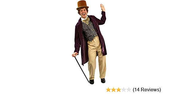Willy Wonka Costume Mens Charlie And The Chocolate Factory Fancy Dress By  Orion Costumes: Amazon.co.uk: Clothing