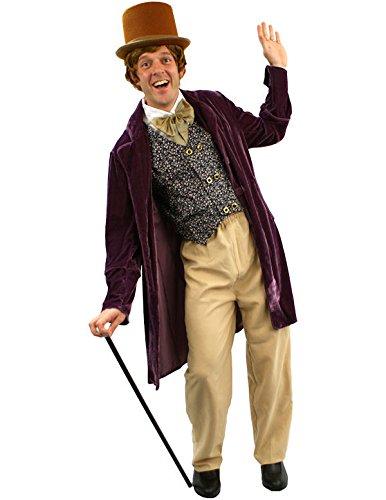 tüm Karneval Fasching Herren Verkleidung (Herren Willy Wonka Kostüme)