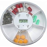 Ounona Automatischer, elektronischer Medikamentendosierer mit 7Fächern und Alarmwecker, Pillendose zum Organisieren... preisvergleich bei billige-tabletten.eu