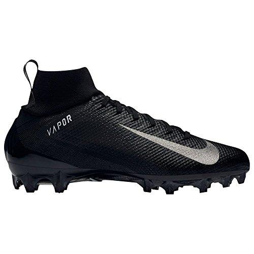 NIKE Men's Vapor Untouchable 3 Pro Football Cleats (9, Black/White) (Vapor Fußball-cleats)