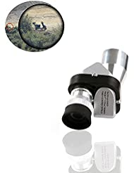 zhuoruiMini Pocket 8×20 Silver Metal Monocular Telescope Eyepiece , for Scientific bird-watching, wilderness expedition, travel, outdoor sports equipment Telescope offer, watch live game