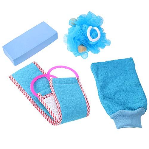 Frcolor 4pcs gant de douche exfoliant dos épurateur de bain poubelle boule de douche pour femmes
