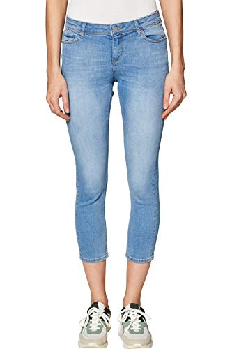ESPRIT Damen 049EE1B004 Skinny Jeans, Blau (Blue Bleached 904), W34 (Herstellergröße: 34/25) -