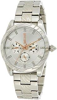 Just Cavalli XL Ladies Silver Dial Stainless Steel Analog Watch - JC1L130M0055